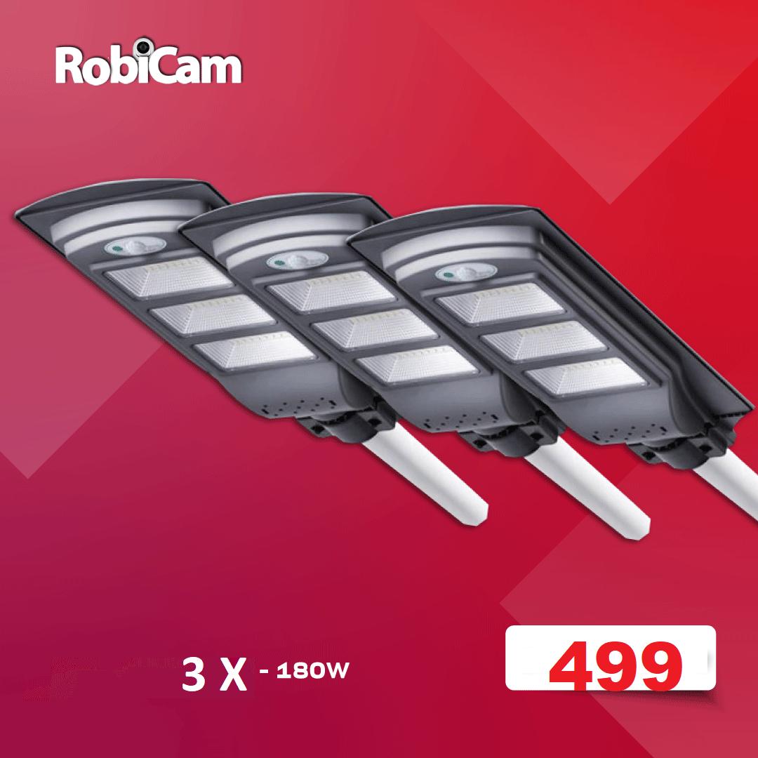 3X LAMPĂ SOLARĂ 180W