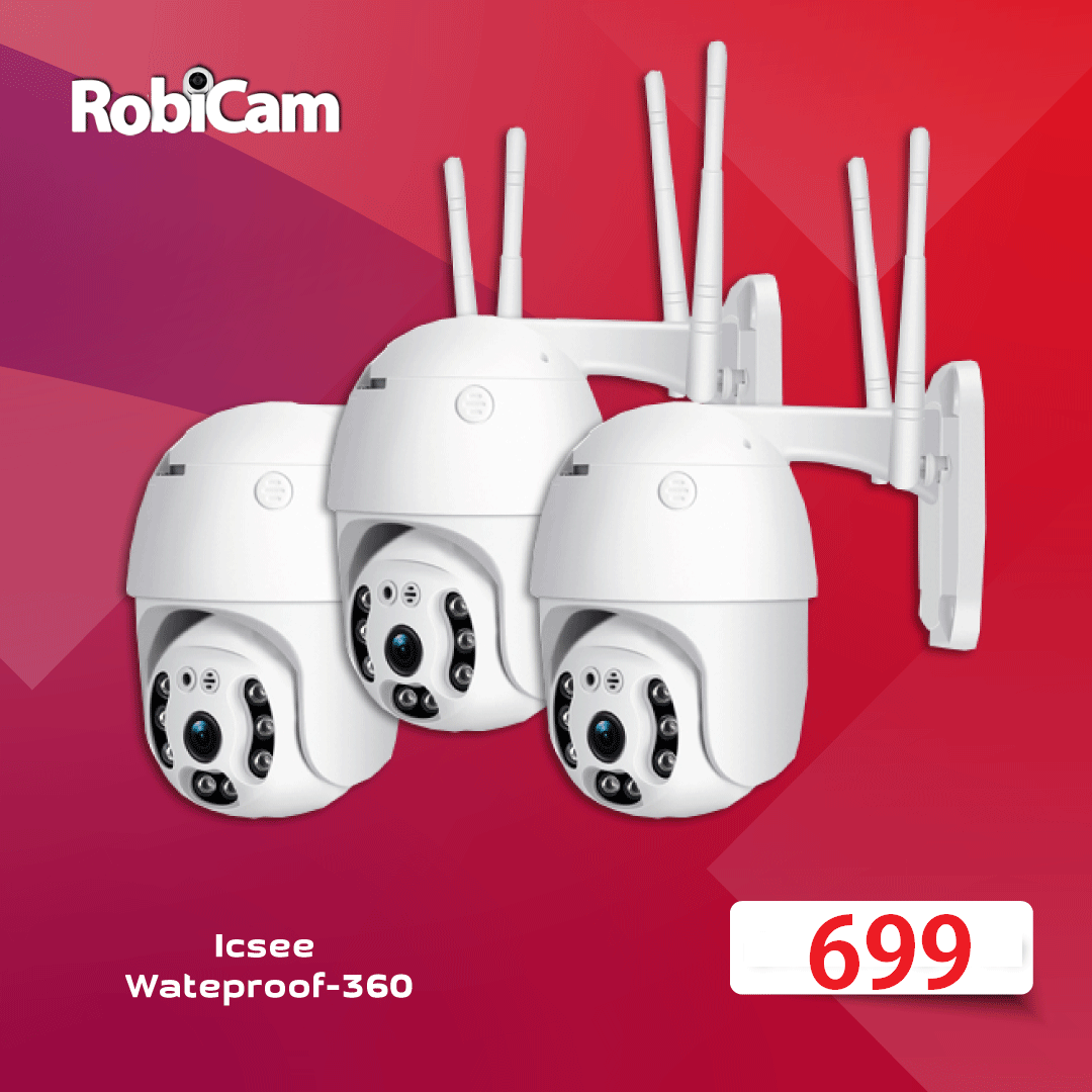 3X NEW PTZ iCsee Wateproof 360 Robicam